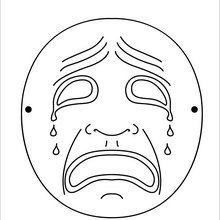 Dibujo para colorear : Máscara Luna llorona