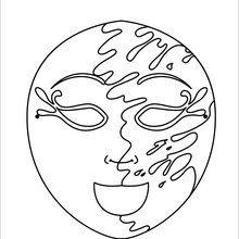 Dibujo para colorear : Máscara Agua y Tierra