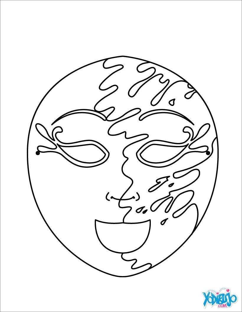 Dibujos para colorear máscara agua y tierra - es.hellokids.com