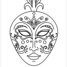 Dibujo para colorear : Máscara Veneciana