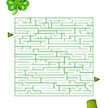 Página para imprimir : Trébol y Sombrero Verde
