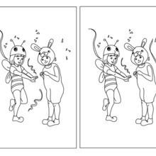 Disfraces infantiles: Abeja y Conejo