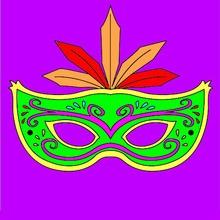Carnaval con niños, Dibujos de MASCARAS para colorear