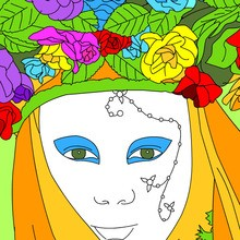disfraz para Carnaval, Dibujos del CARNAVAL DE VENECIA para colorear