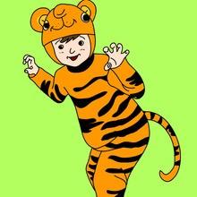 Carnaval con niños, Dibujos de DISFRACES para colorear