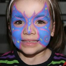 Pintacarita de Mariposa Azul y rosa