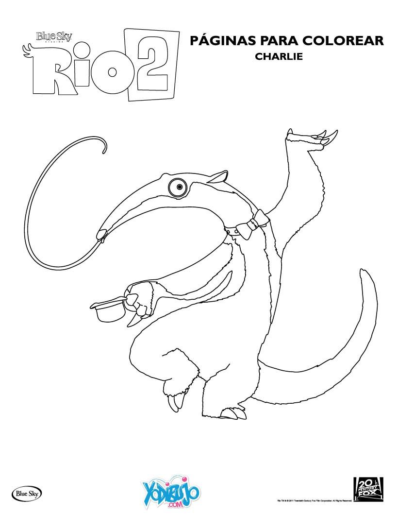 Rio 2 vídeos, juegos, laminas para pintar y actividades de la película