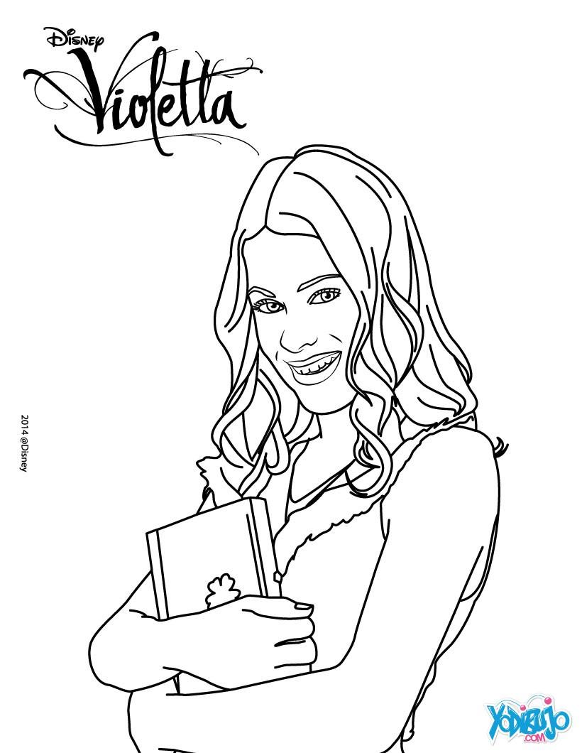 Dibujos De Violetta Para Colorear Imprimir Y Pintar 10