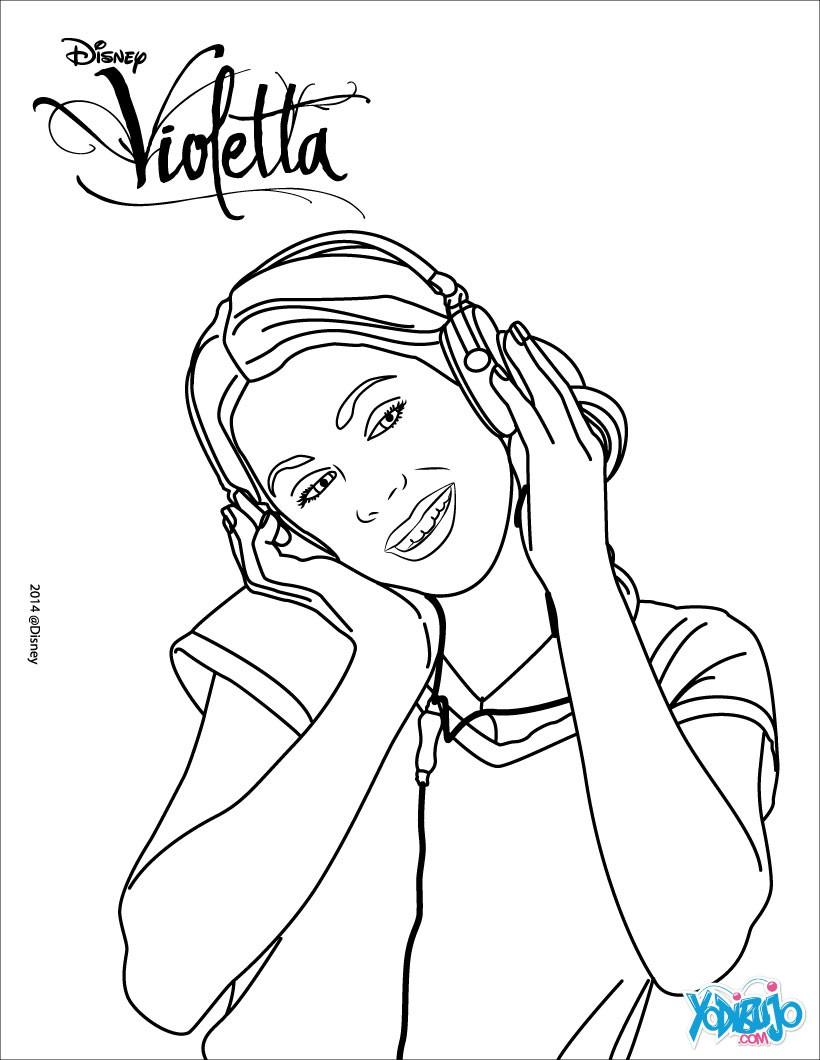 Dibujos para colorear violetta al studio 21 - es.hellokids.com