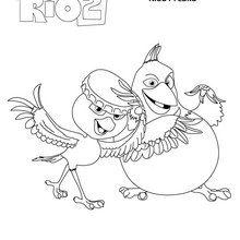Dibujo para colorear : Nico y Pedro