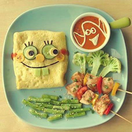 Cocinar con niños : Tortilla Bob Esponja