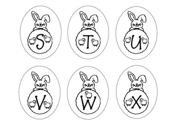 Dibujos para colorear letras conejo stuzwx  eshellokidscom
