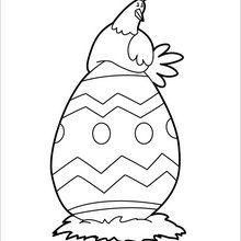 Dibujo para colorear : Huevo Más Grande