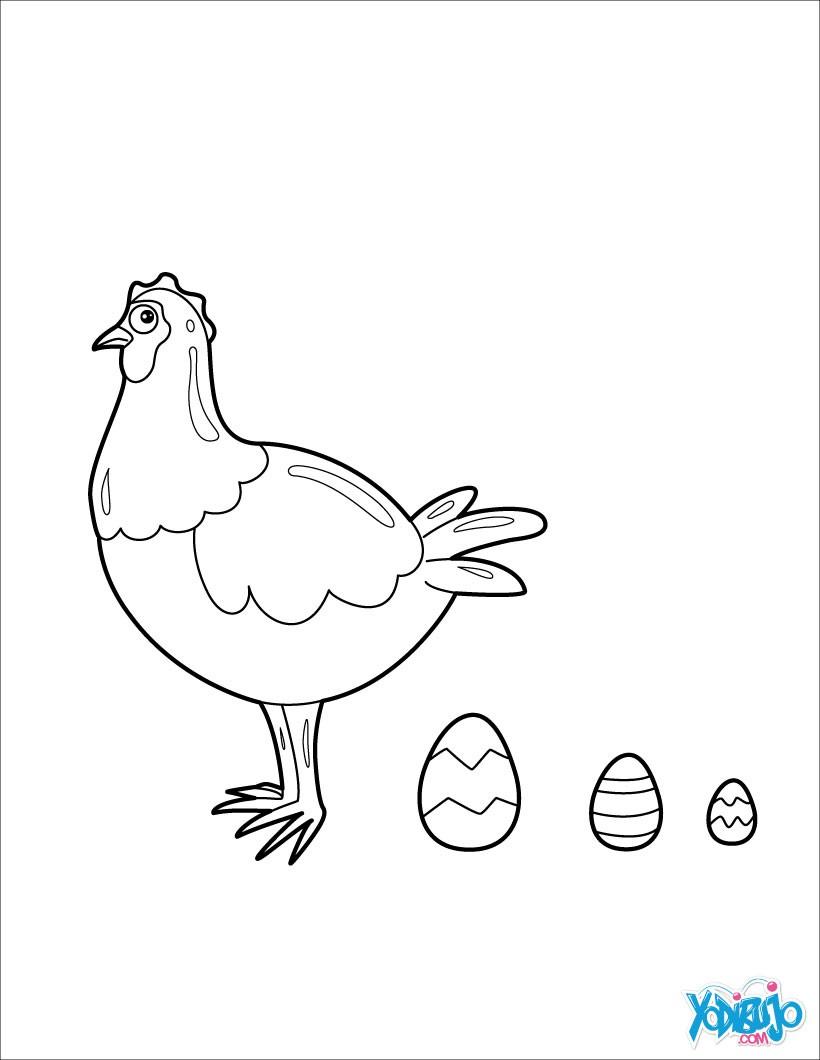 Dibujos Para Colorear Huevos De Gallina Es Hellokids Com