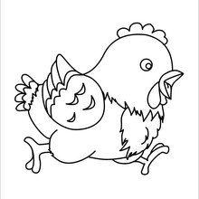 Dibujo para colorear : Pollito Feliz de Pascua