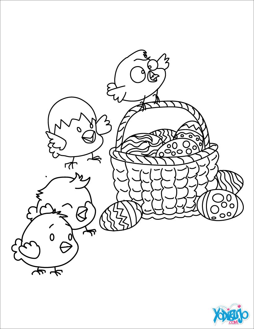 Dibujos para colorear HUEVOS DE PASCUA - imprimir 36 dibujos para ...