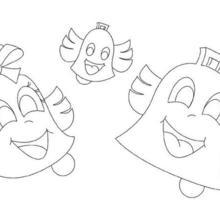 Dibujo para colorear : Las campanas de Pascua