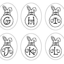 Dibujo para colorear : Letras Conejo GHIJKL