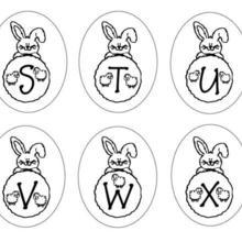 Dibujo para colorear : Letras Conejo STUZWX