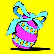 Huevos de Pascua, Dibujos para colorear PASCUA