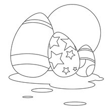 Dibujo para colorear : Surtido de Huevos de Chocolate