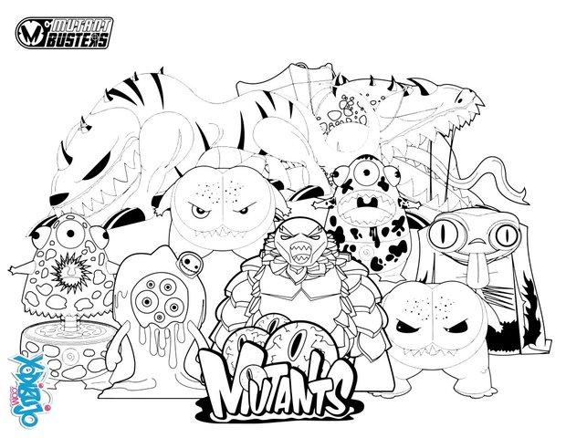 Dibujos Para Colorear Blurp Y Los Mutantes Eshellokidscom