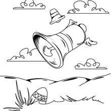 Dibujo para colorear : Campanas y Huevos