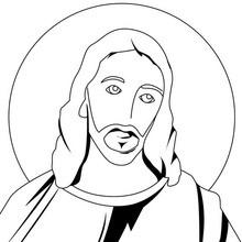Dibujo para colorear : Cristo