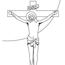 Dibujo para colorear : Crucifixión de Jesús