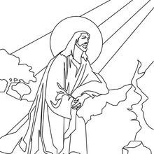 Dibujo para colorear : Jesús en el Monte de los Olivos