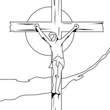 Dibujo para colorear : Muerte de Jesús