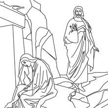 Dibujo para colorear : Resurrección de Jesús
