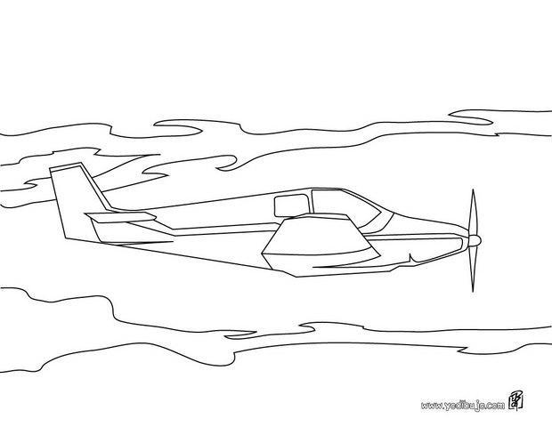 Aviones Para Colorear En Linea Dibujo De Aviones Para: Dibujos Para Colorear Un Avión De Helice