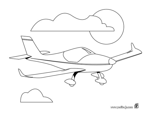 Dibujo para colorear : un jet privado