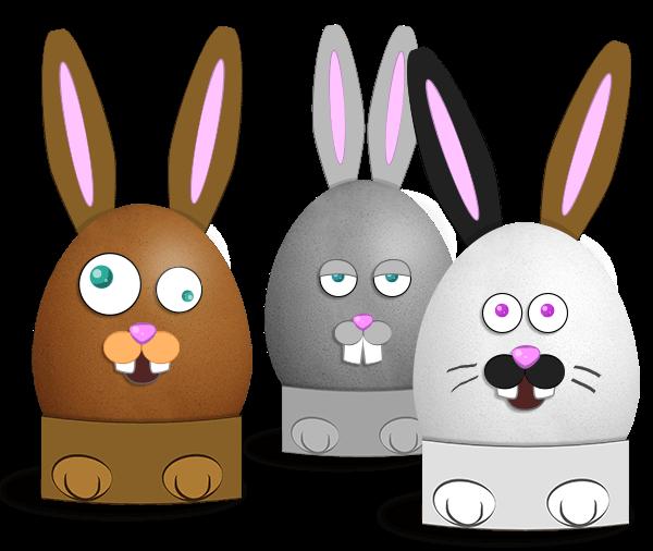 Manualidad infantil : Huevos de Conejos