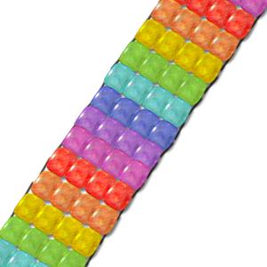 Manualidad infantil : Pulsera de perlas en arco iris