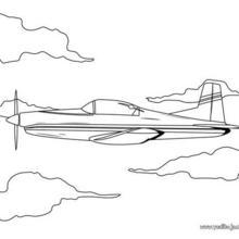 Dibujo para colorear : avión de helice