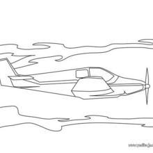 Dibujo para colorear : un avión de helice