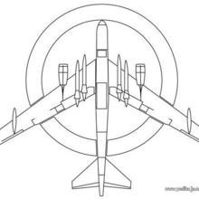 Dibujo para colorear : un avión misil