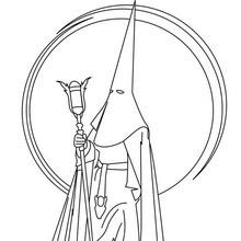 Dibujo para colorear : Capirote de Nazareno