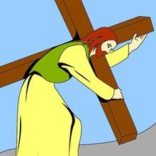 Dibujos de Pascua religiosa para colorear
