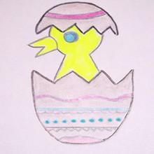 Huevos de Pascua, Dibujar PASCUA