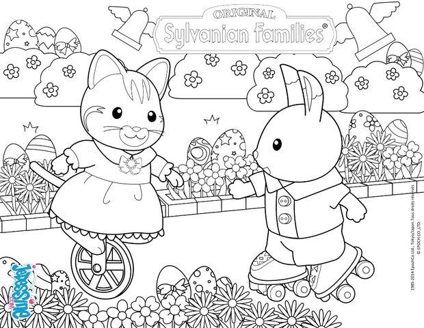 Colorear En Línea: Dibujos Para Colorear Caza De Conejos Y Huevos De