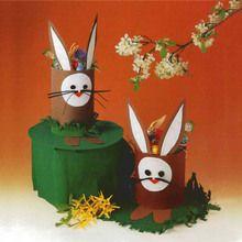 Manualidad infantil : Cesta conejo de pascua