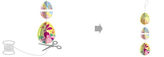 Manualidad infantil : Hilera 3D de Pascua