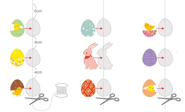 Manualidad infantil : Hilera de conejo de Pascua