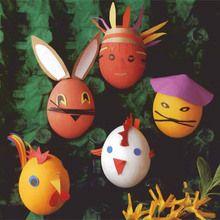 Manualidad infantil : Huevos de Pascua recargados