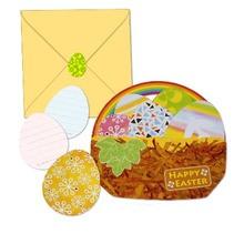Manualidad infantil : Tarjeta Pop-Up Huevos de Pascua