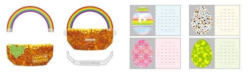 Manualidad infantil : Tarjeta pop up Huevos de Pascua