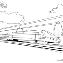 Dibujo para colorear : tren AVE